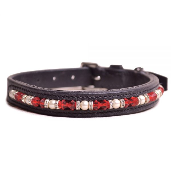 Joshua Jones Dog Collar Black Red
