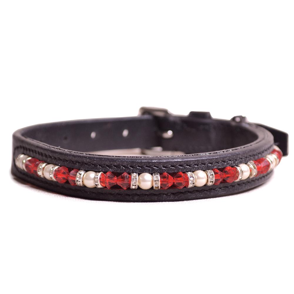 Joshua Jones Dog Collar Black Red