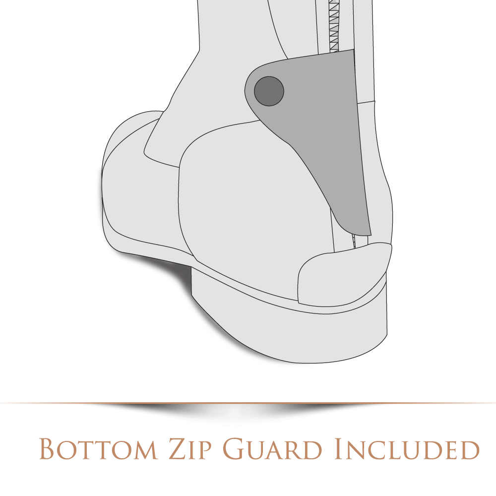 Botton zip guard