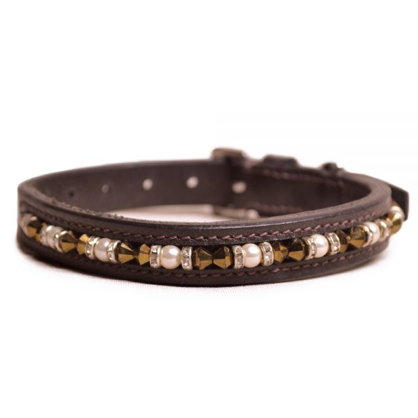 Joshua Jones Dog Collar Brown Brown