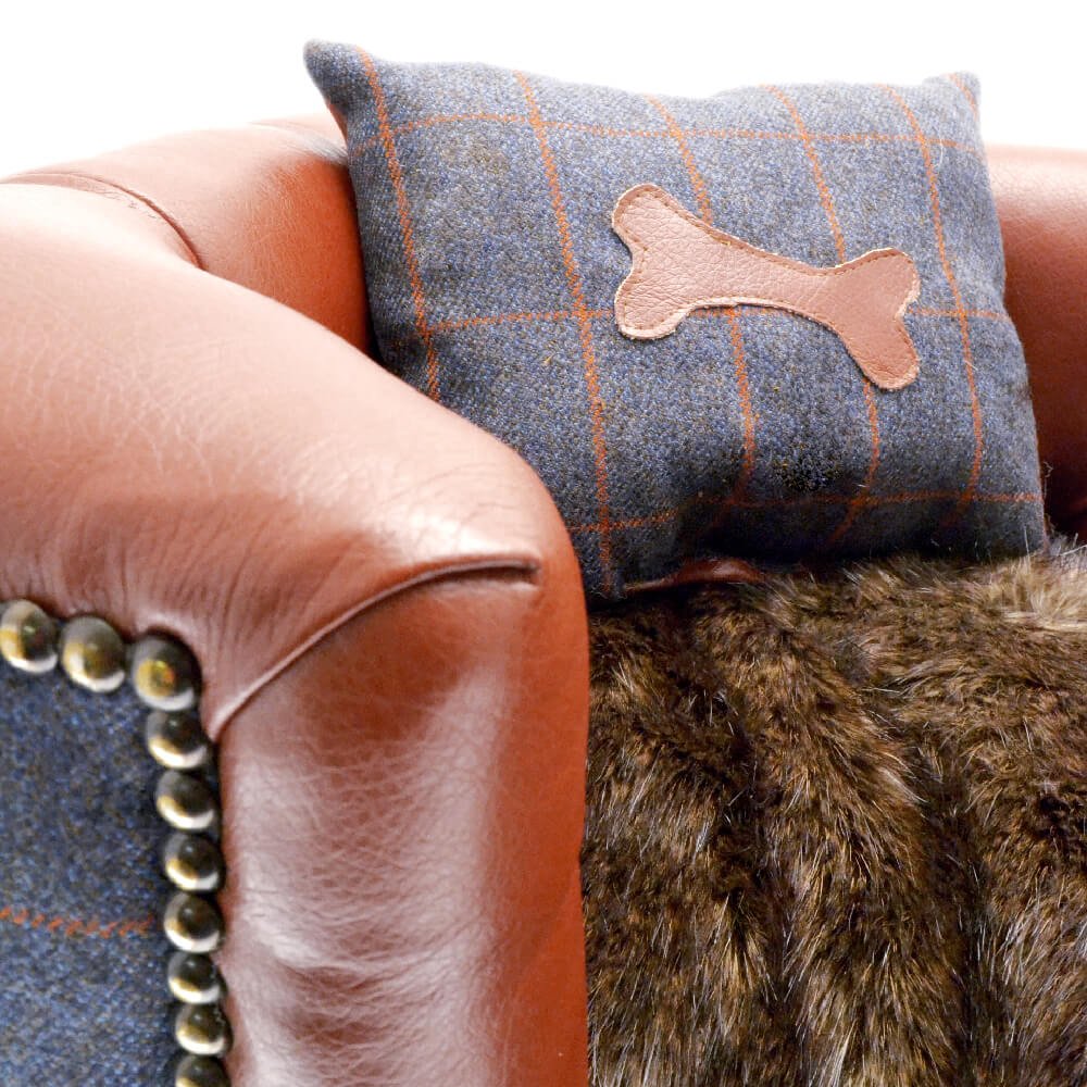 Luxury Faux Leather Dog Bed