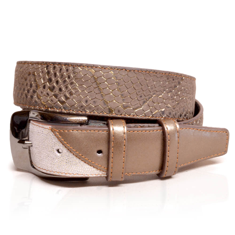 De Niro Belt Regal Brown Silver