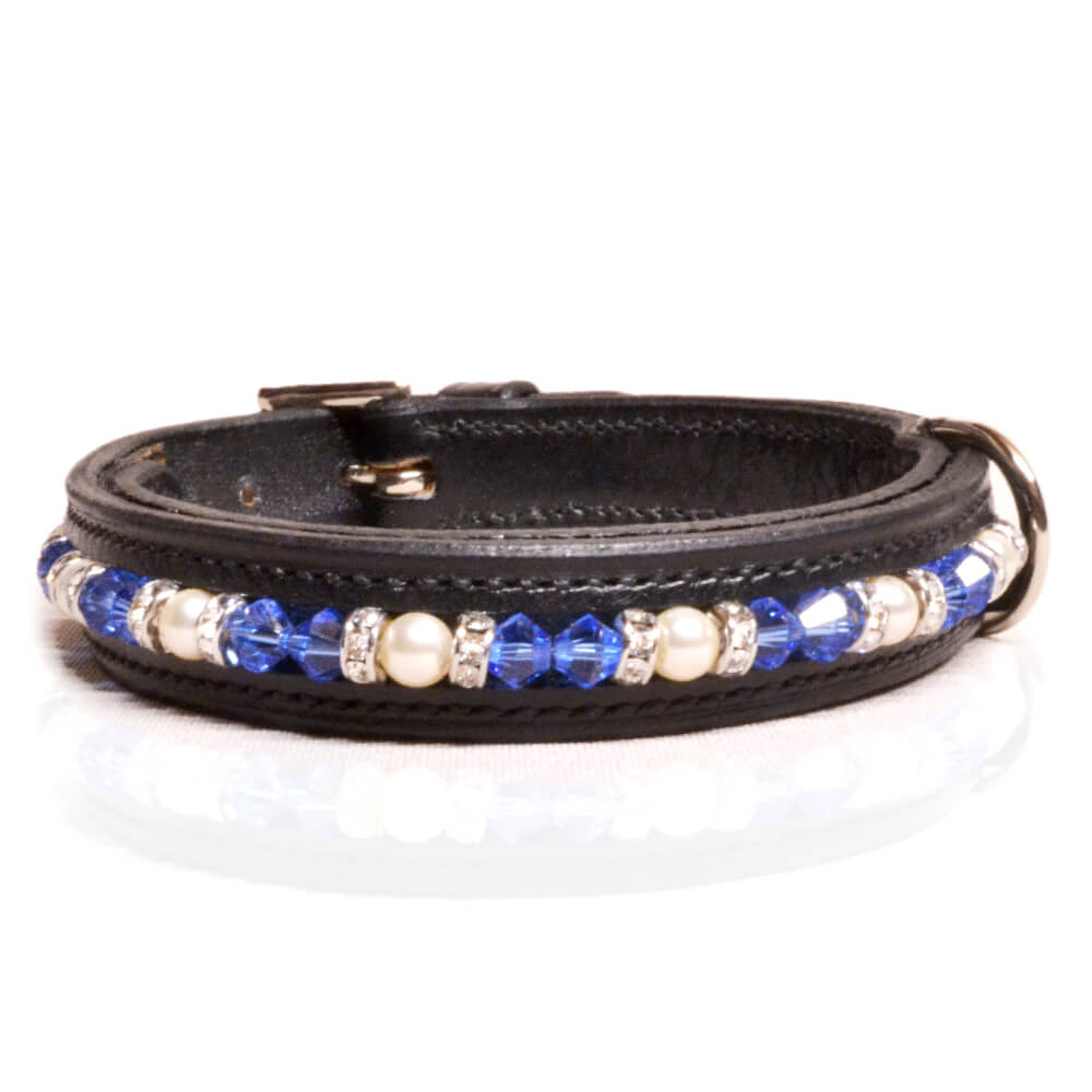 Black Blue/White Dog Collar