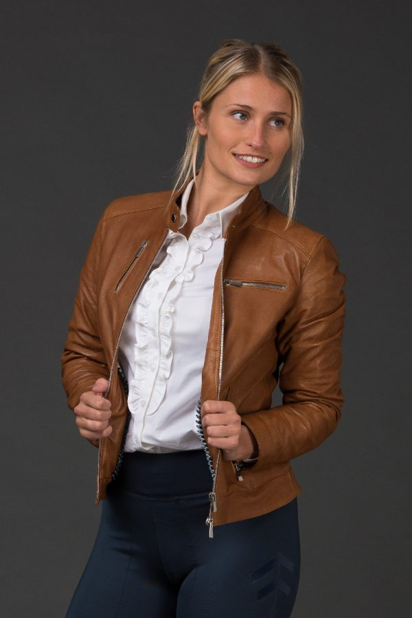 Adona Tan Leather Jacket