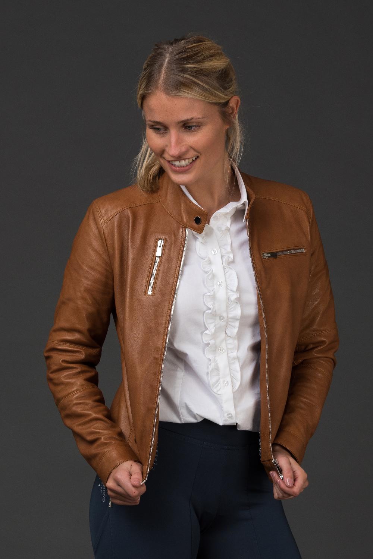 Adona Tan Leather Jacket