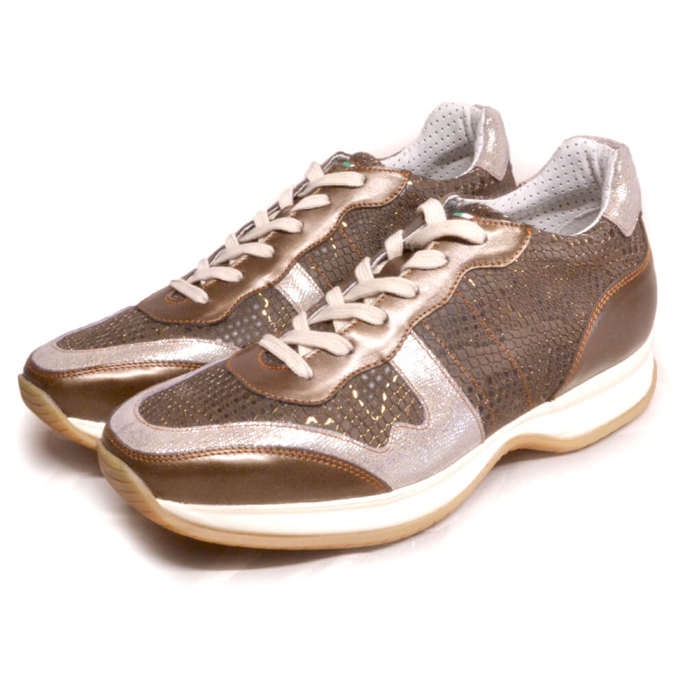 DonaDeo Sneaker Regal Brown Silver