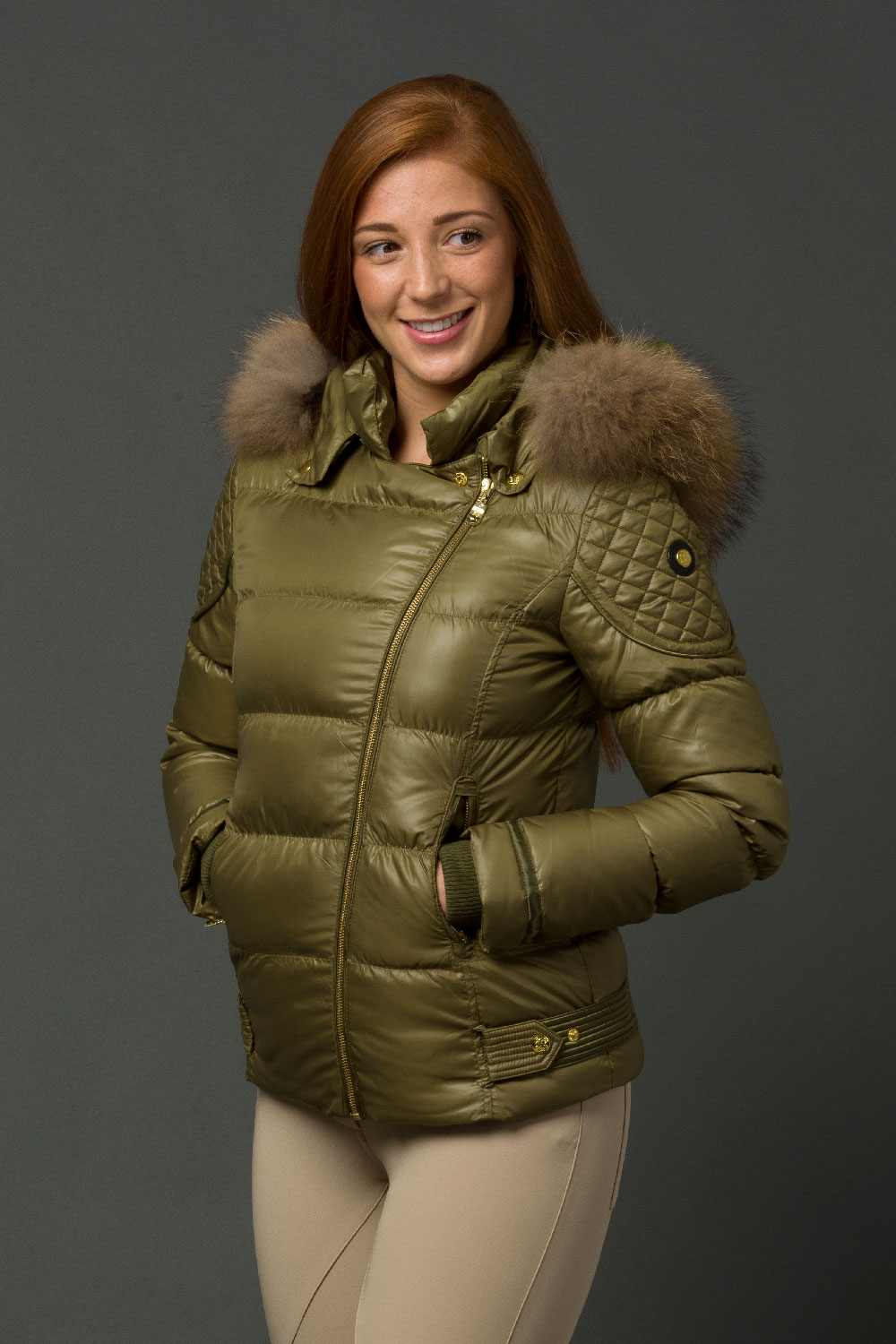 The Geovana Coat - Olive Green
