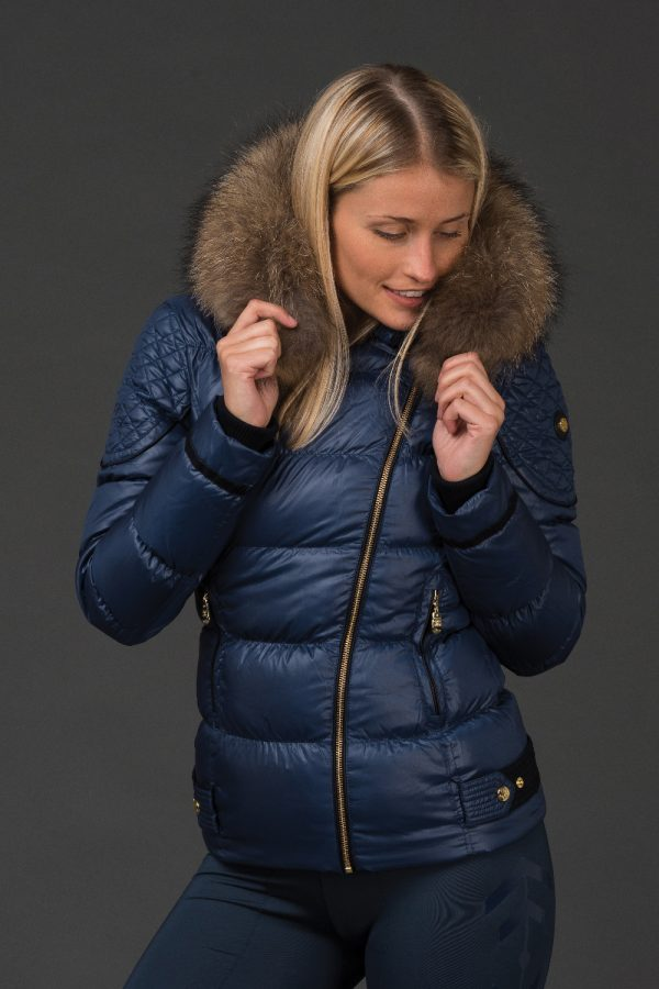The Geovana Coat - Petrol Blue