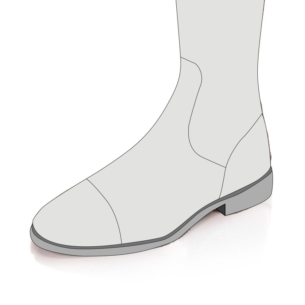 Foot Section With a Toe Cap