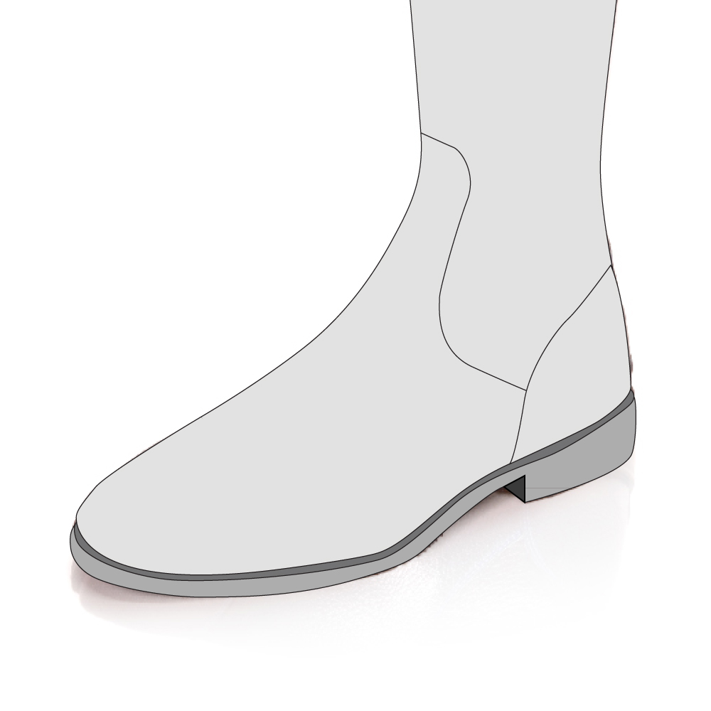 Foot Section with No Toe Cap