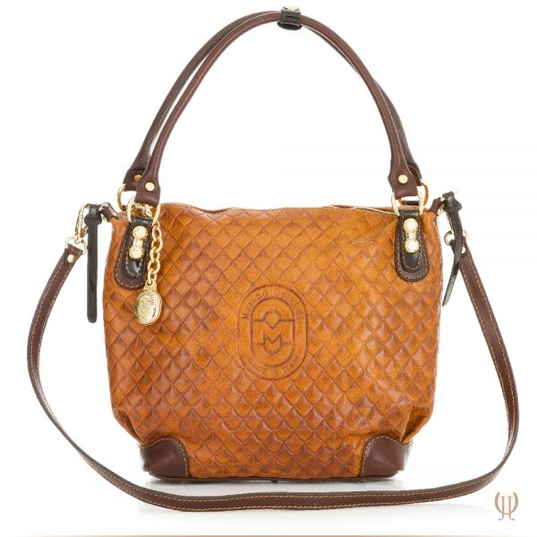 Marino Orlandi Lattice Handbag in Light Tan