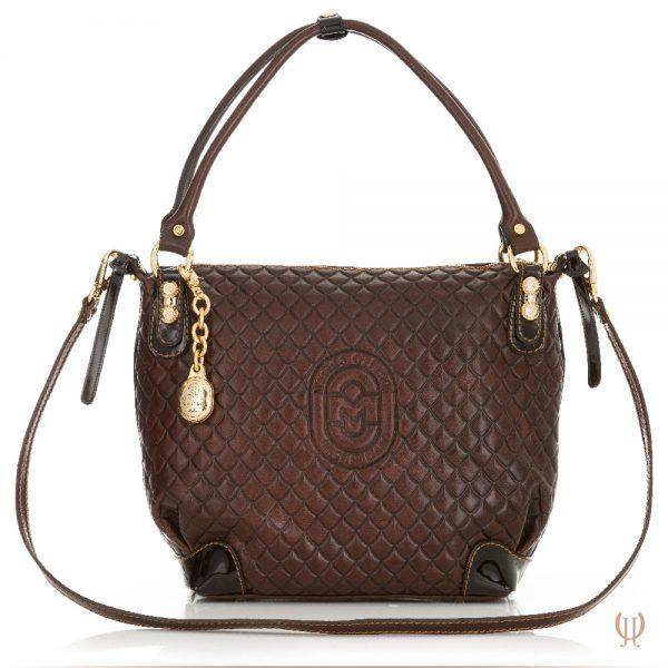 Marino Orlandi Lattice Handbag in Brown