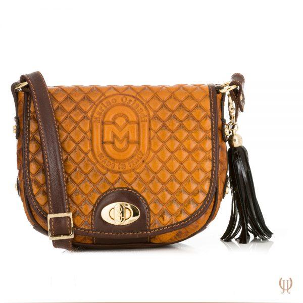 Marino Orlandi Saddle Handbag in Light Tan
