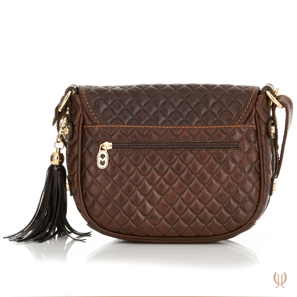 Marino Orlandi Saddle Handbag in Brown