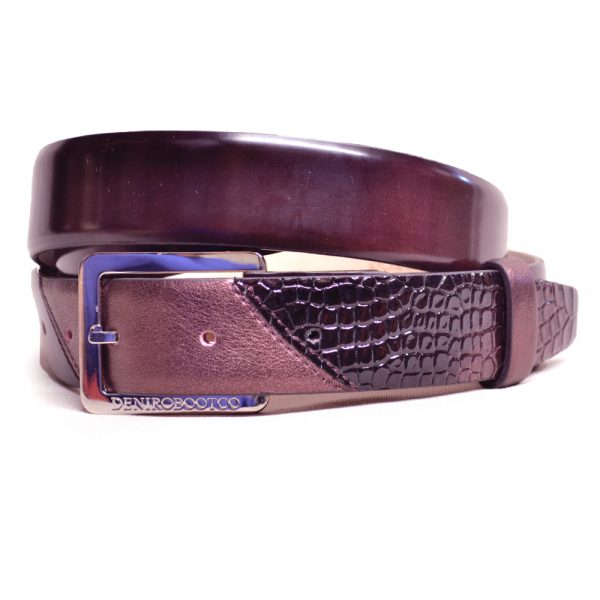 De Niro Belts Brushed and Cocco Bordo