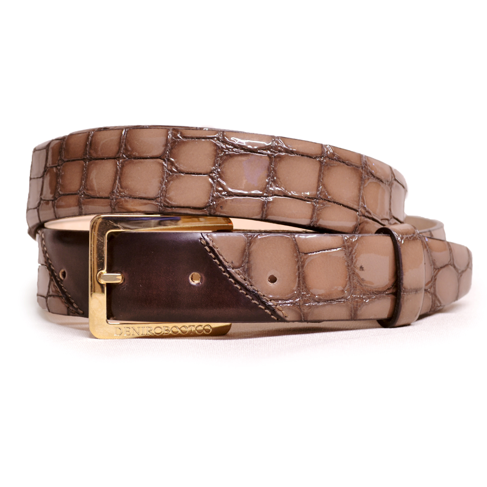 De Niro Belt Lucidi Bistro Brushed Brown