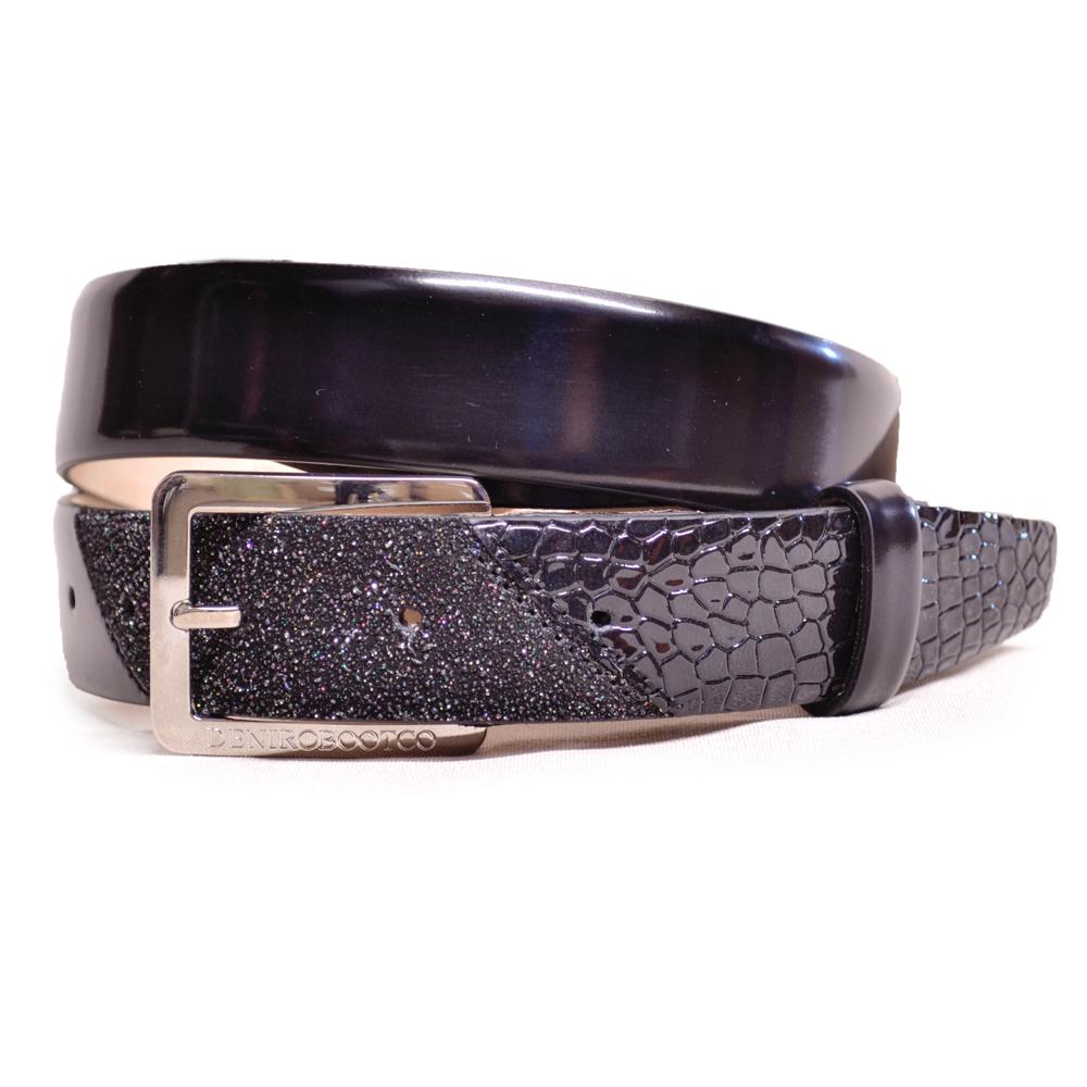 De Niro Belt Brushed Black Cocco Nero