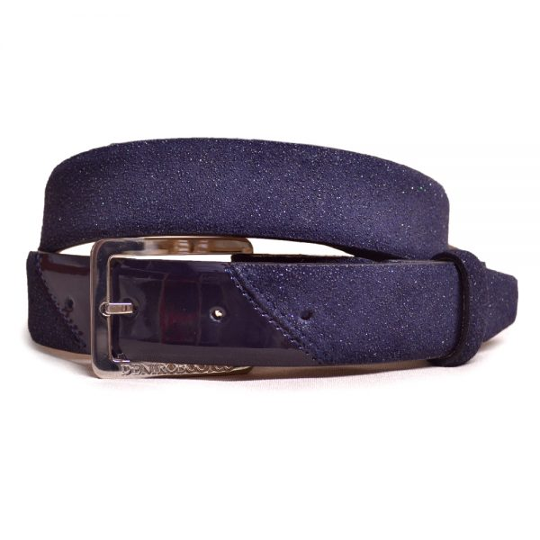 De Niro Belt Stardust and Patent Navy