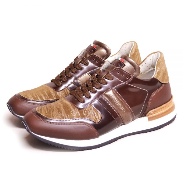 DeNiro ~Vice Versa Sneaker Miraggio Ambra Brushed Brown