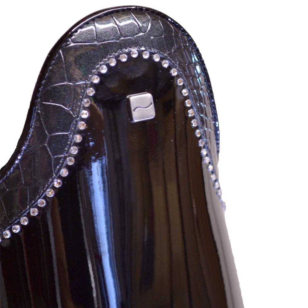 Donadeo Matteo Black Patent Crystals